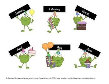 Frogs Birthday Display 1