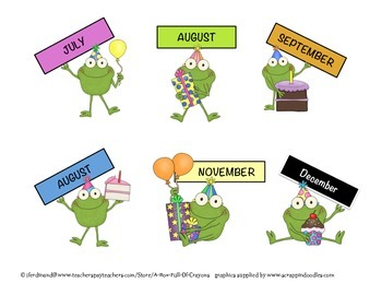 Frogs Birthday Display 2
