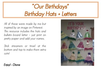 Birthday Chart Hats