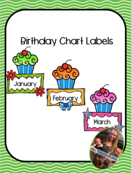 Birthday Chart Labels By Oh So Cute O Flaherty Tpt
