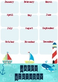 A3 Birthday Chart - Nautical