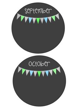 Birthday Chart - Ocean Flags
