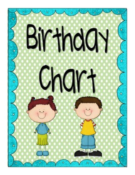 Birthday Chart Pack
