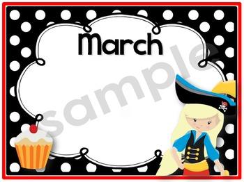 Birthday Chart {Pirates}