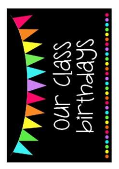 Birthday Chart - Rainbow Flags