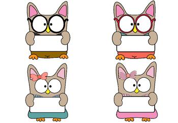 Birthday Chart - School Owls
