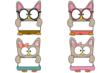 Birthday Chart - School Owls