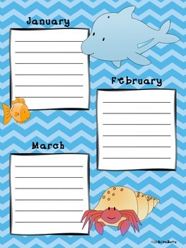 Birthday Chart - Sea Animals