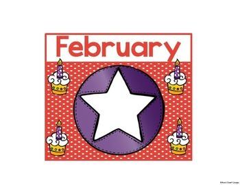 Birthday Chart Stars and Dots Theme