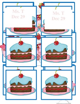 Birthday Chart Sweet Theme