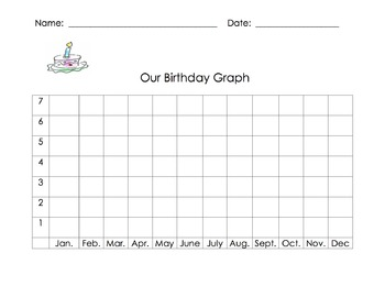 Back to School Birthday Chart and Graph