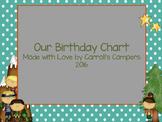 Birthday Chart camp theme
