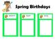 Birthday Chart using US Seasons
