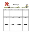 Birthday Chart with Flowers