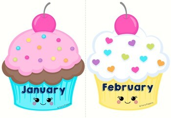 Cupcake Birthday Charts Certificates By Fairy Poppins Tpt
