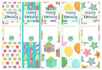 Owl Birthday Charts & Certificates