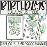 Birthday Charts Eucalyptus Theme