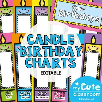 Birthday Charts Posters - Cute Candles