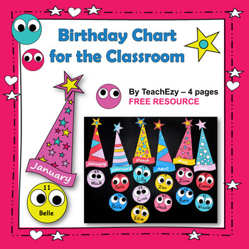 Birthday Charts For The Classroom FREE And Editable