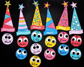 Birthday Charts For The Classroom FREE And Editable By TeachEzy
