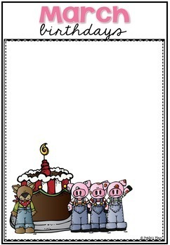 Birthday Charts with Editable Name Tags Fairy Tale Theme