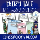 Birthday Charts with Editable Name Tags Fairy Tale Theme