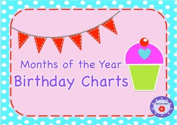 Birthday Charts/Months of the Year -Free