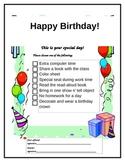 Birthday Choice Certificate