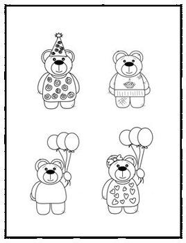 Birthday Clip Art - Bear Theme