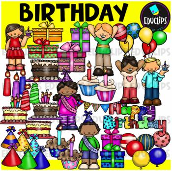Birthday Clip Art Bundle {Educlips Clipart}