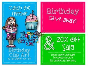 Birthday Clip Art Freebie