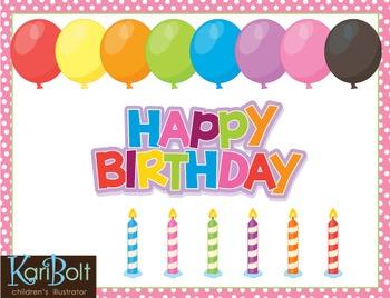 Birthday Clip Art and MYO Birthday Cake Printable