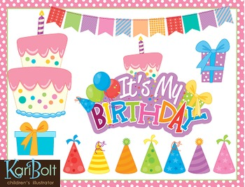 Birthday Clip Art and MYO Birthday Cake Printable