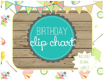 Birthday Clip Chart - Camping Themed