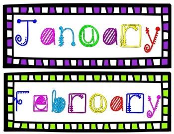 Birthday Clip Chart Classroom Decor