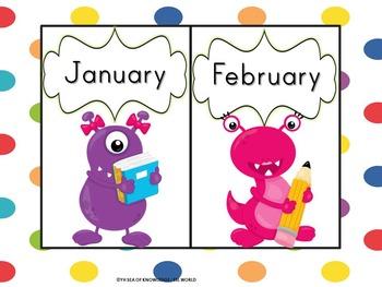Birthday Clip Chart Monster Themed