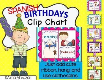 Birthday Clip Chart Spanish Version