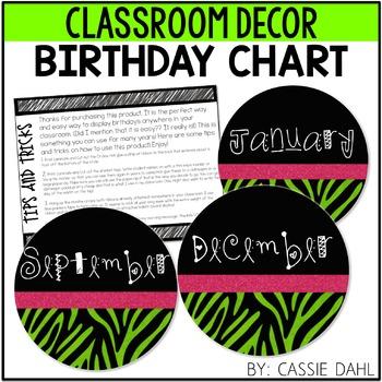 Birthdays Clip Chart