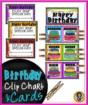 Birthday Clip Chart and Cards