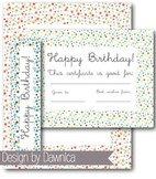 Birthday Clipart BUNDLE - backgrounds, borders, banners, bookmarks, certificates