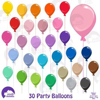 Birthday Clipart, Balloon Clipart, AMB-1197