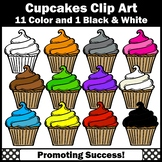 Cupcake Clip Art for TpT Sellers, Primary Colors Clipart, SPS