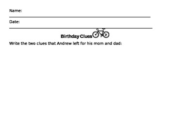 Birthday Clues