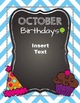 Birthday Collection {Happy Birthday Wall Decor and Printables} Back to School