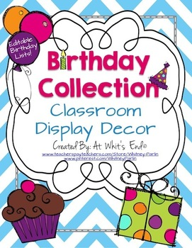 Birthday Collection {Happy Birthday Wall Decor and Printab