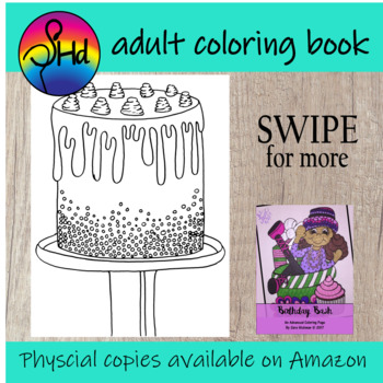 Birthday Coloring Book for Big Kids, Teens and Adults