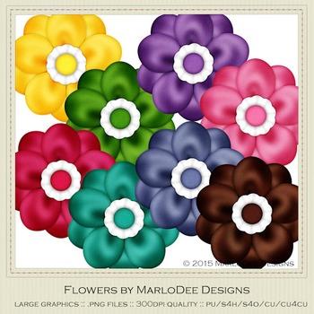 Birthday Colors Digital Flower Graphics package 2
