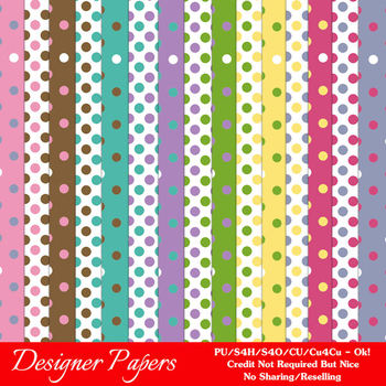 Birthday Colors Digital Scrapbook Papers Backgrounds 1