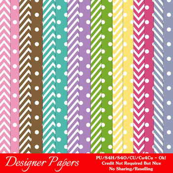 Birthday Colors Digital Scrapbook Papers Backgrounds 2