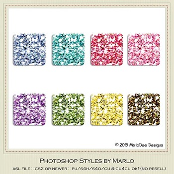 Birthday Colors Glitter Photoshop Style